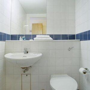 bagno della stanza dell'università di Dublino